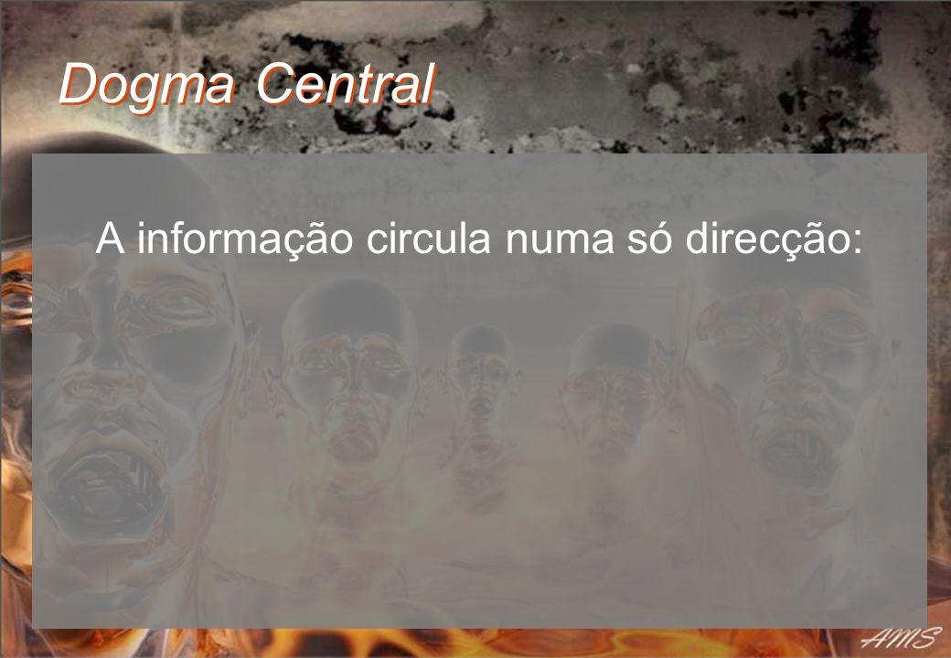 A informação circula numa só direcção:
