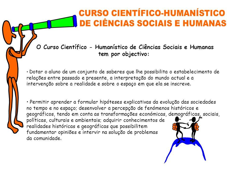 CURSO CIENTÍFICO-HUMANÍSTICO DE CIÊNCIAS SOCIAIS E HUMANAS