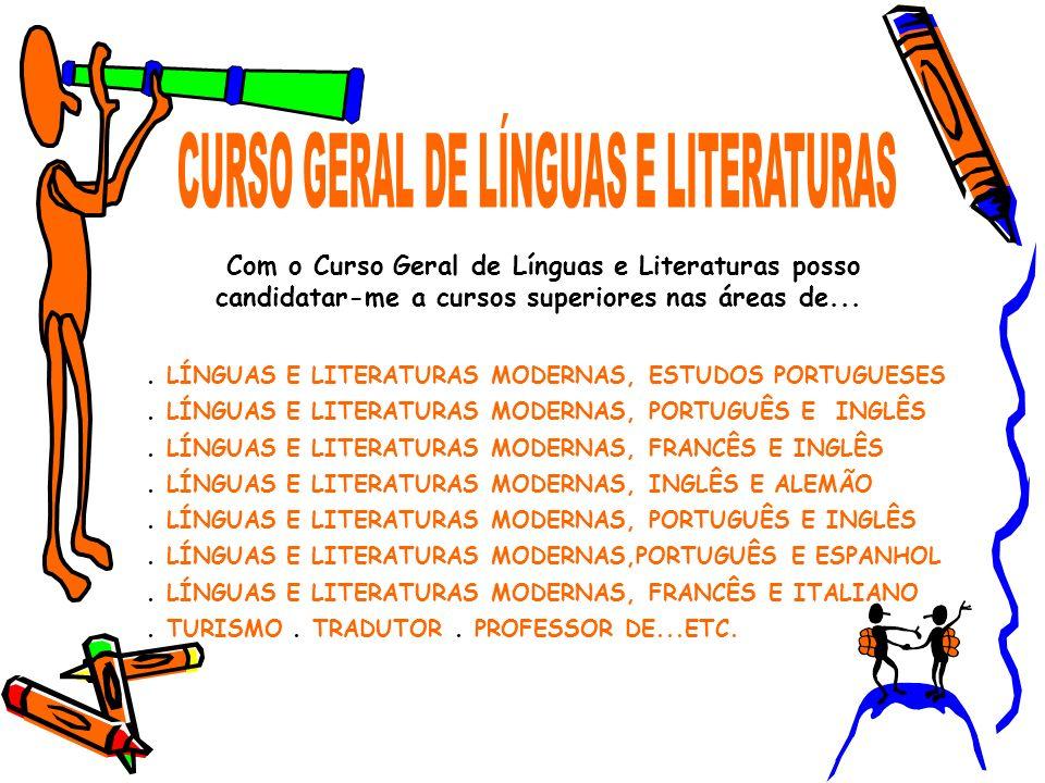 CURSO GERAL DE LÍNGUAS E LITERATURAS