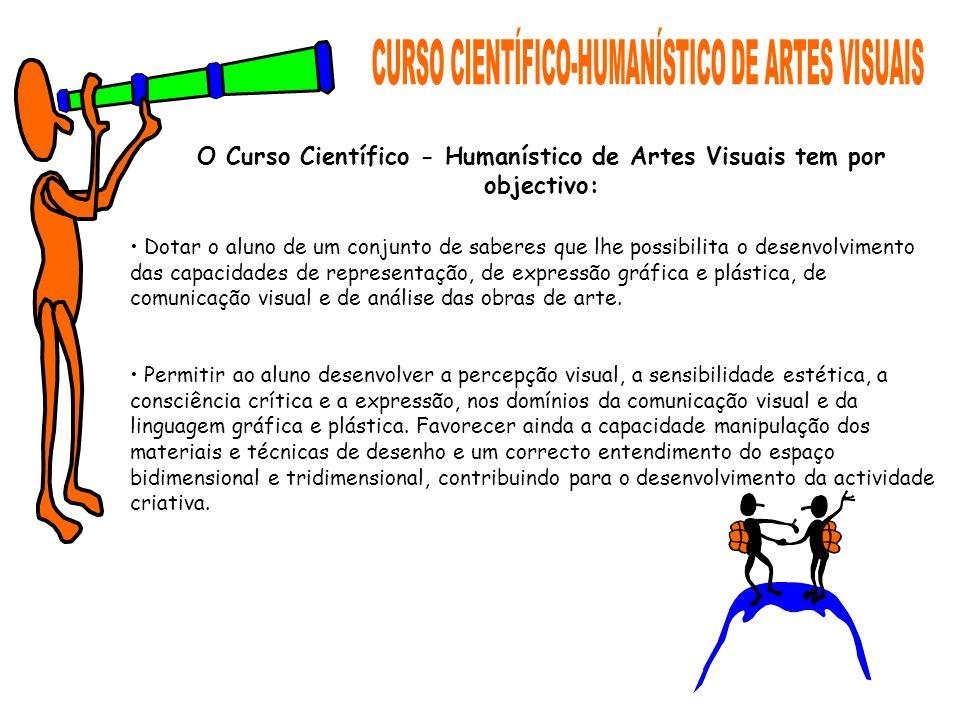 O Curso Científico - Humanístico de Artes Visuais tem por objectivo: