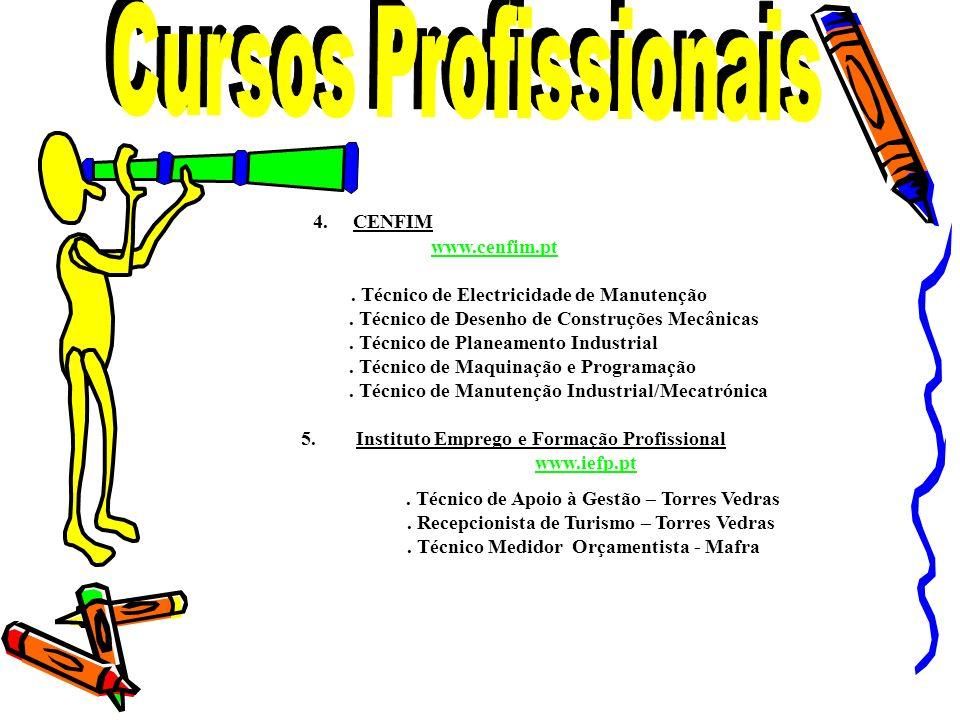Cursos Profissionais 4. CENFIM www.cenfim.pt