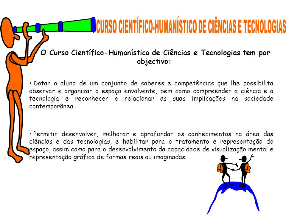 CURSO CIENTÍFICO-HUMANÍSTICO DE CIÊNCIAS E TECNOLOGIAS