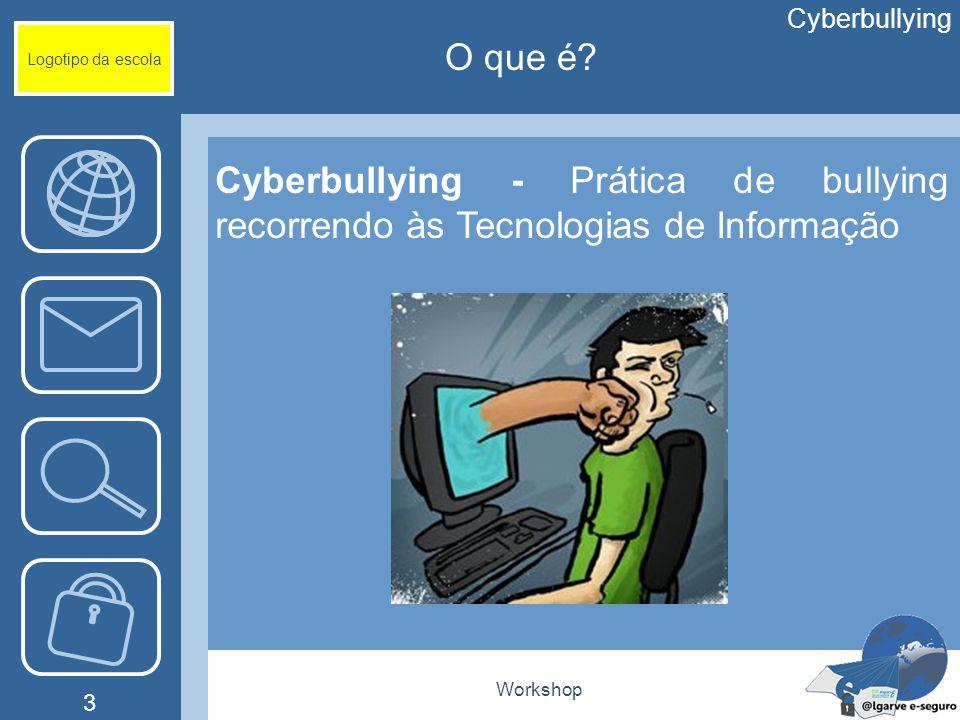 Cyberbullying Logotipo da escola. O que é Cyberbullying - Prática de bullying recorrendo às Tecnologias de Informação.
