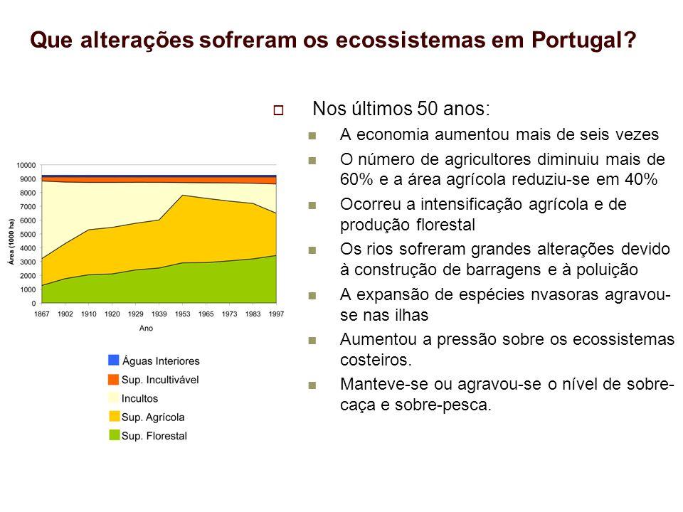 Que alterações sofreram os ecossistemas em Portugal