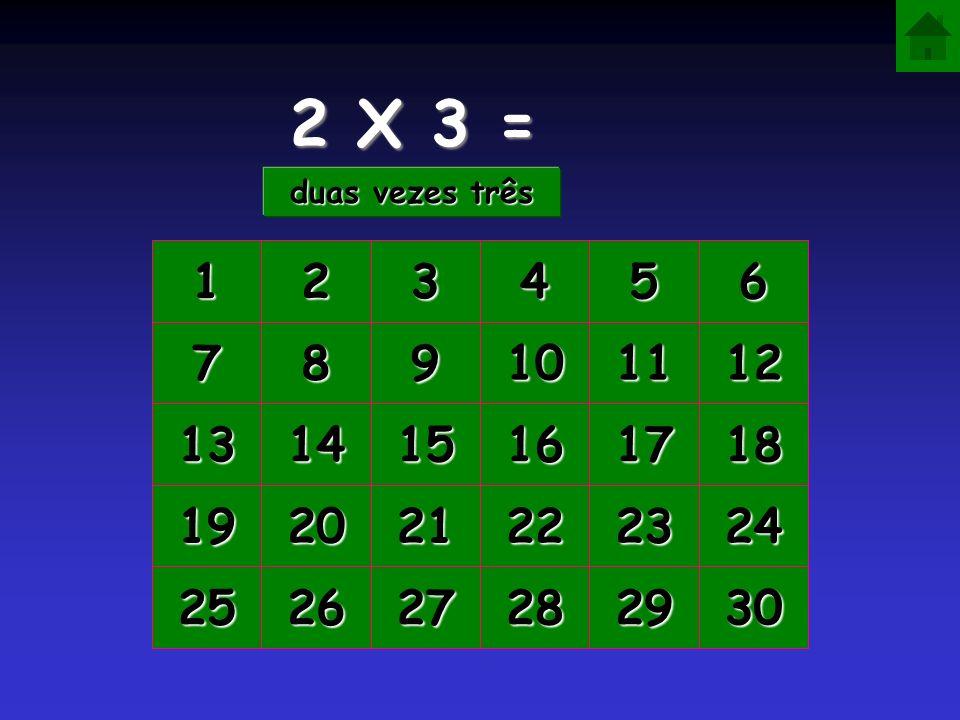 2 X 3 = duas vezes três. 1. 2. 3. 4. 5. 6. 7. 8. 9. 10. 11. 12. 13. 14. 15. 16. 17.