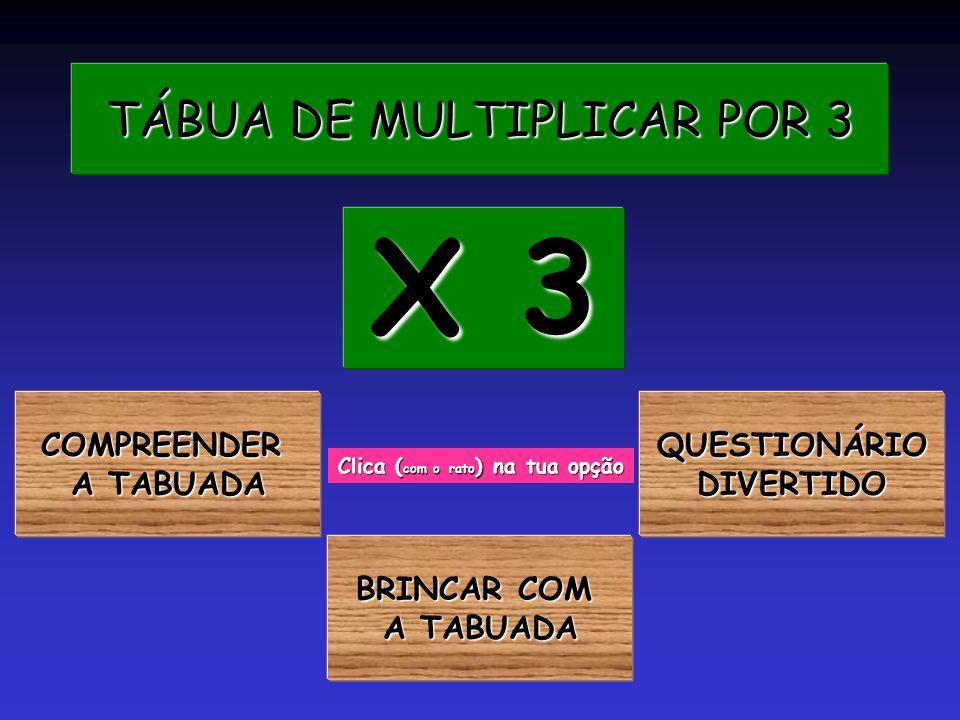 TÁBUA DE MULTIPLICAR POR 3