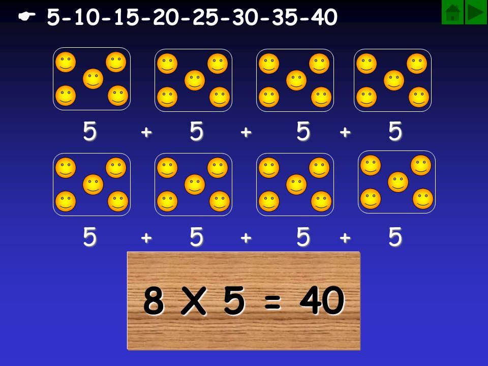  5-10-15-20-25-30-35-40 5 + 5 + 5 + 5. 5 + 5 + 5 + 5.