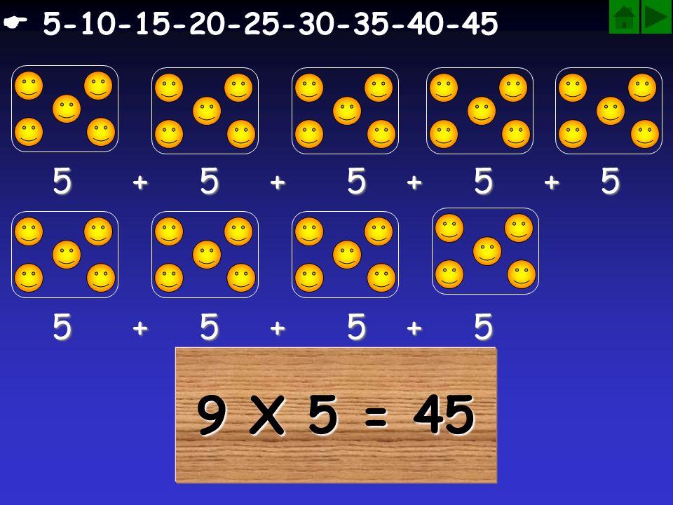  5-10-15-20-25-30-35-40-45 5 + 5 + 5 + 5 + 5. 5 + 5 + 5 + 5.