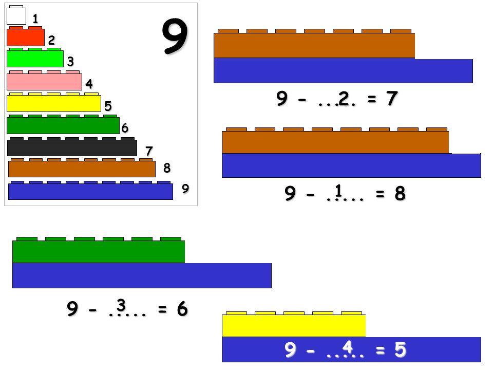 1 9 2 3 4 9 - ..... = 7 2 5 6 7 8 9 9 - ..... = 8 1 9 - ..... = 6 3 9 - ..... = 5 4