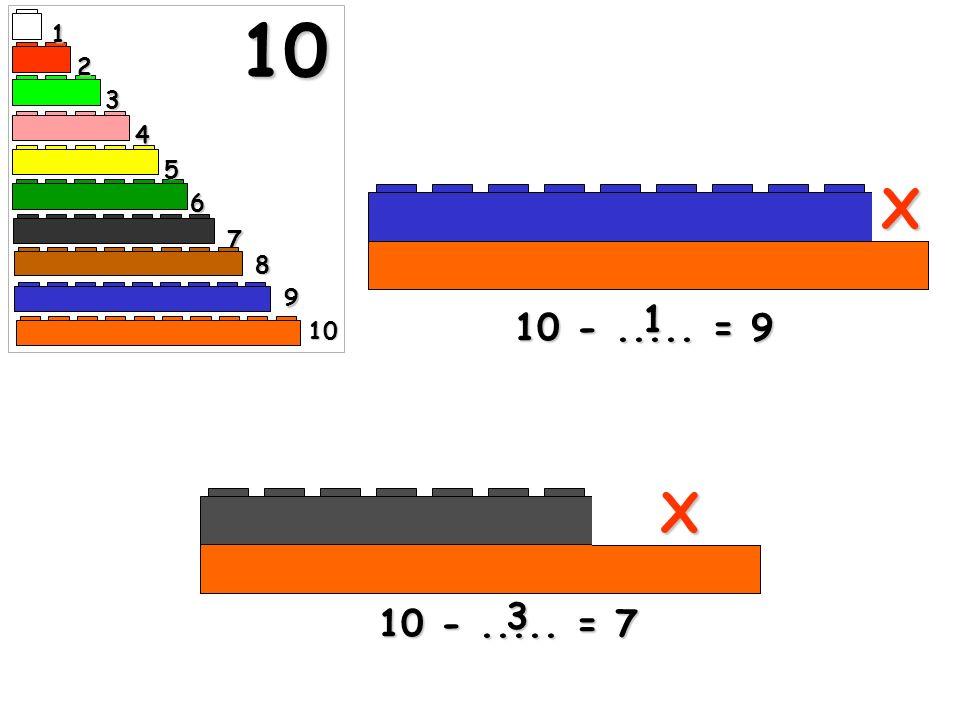 10 1 2 3 4 5 X 6 7 8 9 1 10 - ..... = 9 10 X 3 10 - ..... = 7