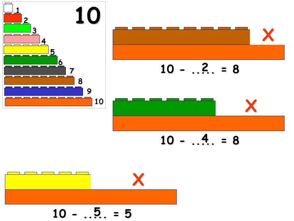 10 1 2 3 X 4 5 6 10 - ..... = 8 2 7 8 9 10 X 10 - ..... = 8 4 X 5 10 - ..... = 5