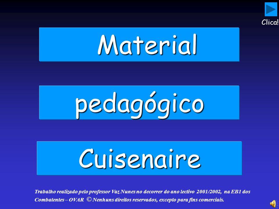 Material pedagógico Cuisenaire Clica!