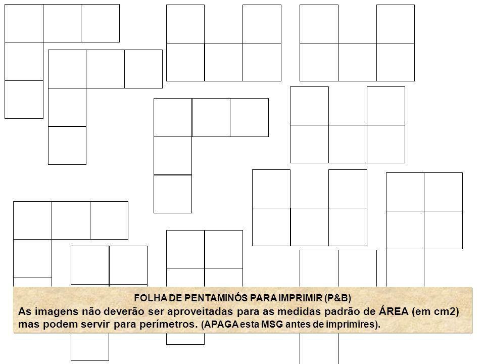 FOLHA DE PENTAMINÓS PARA IMPRIMIR (P&B)
