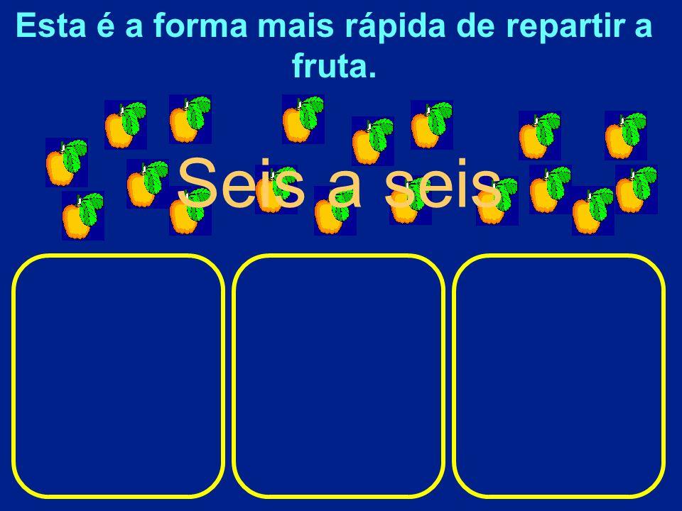 Esta é a forma mais rápida de repartir a fruta.