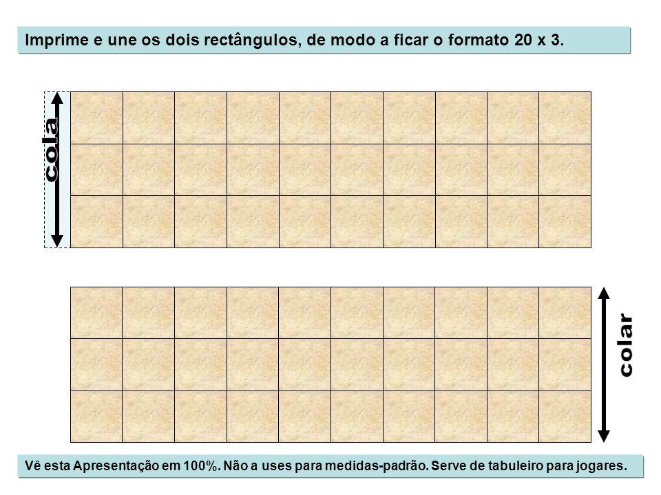 Imprime e une os dois rectângulos, de modo a ficar o formato 20 x 3.