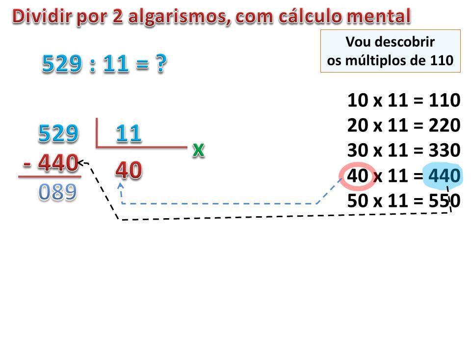 Dividir por 2 algarismos, com cálculo mental