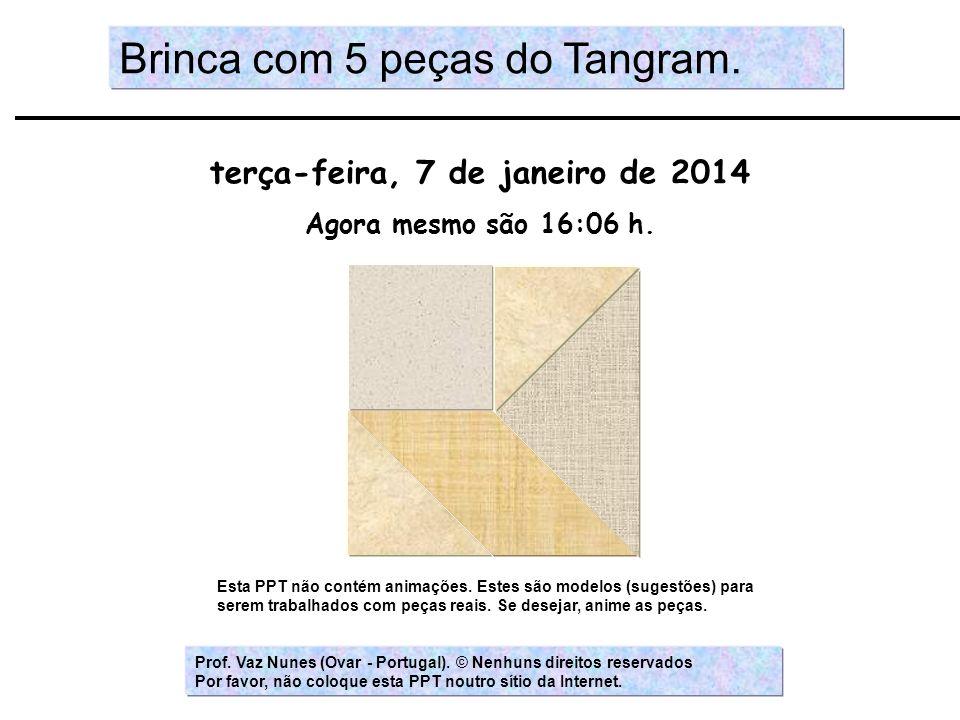 Brinca com 5 peças do Tangram.