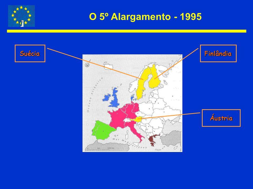 O 5º Alargamento - 1995 Suécia Finlândia Áustria
