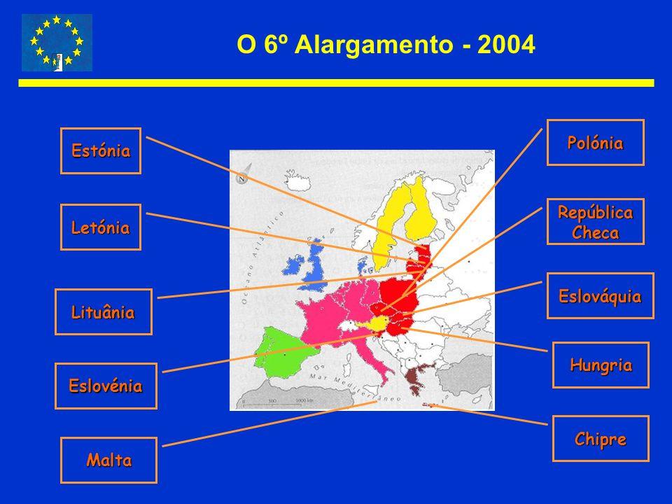 O 6º Alargamento - 2004 Polónia Estónia República Letónia Checa