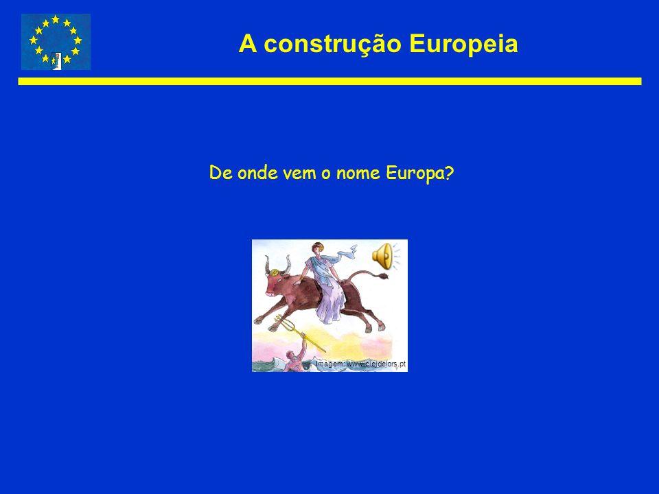 A construção Europeia De onde vem o nome Europa