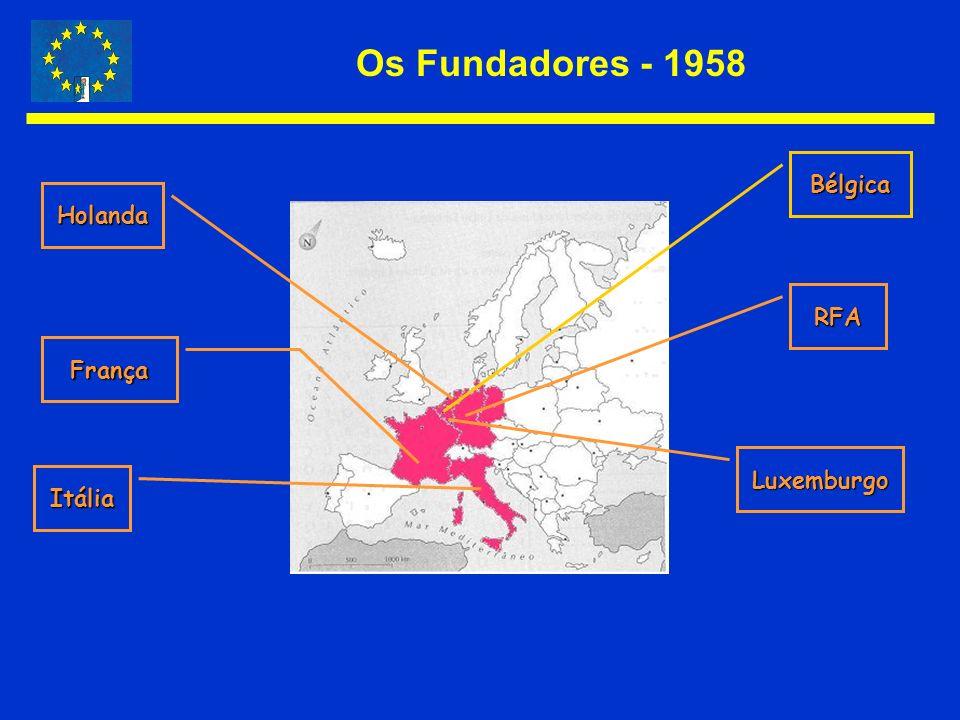 Os Fundadores - 1958 Bélgica Holanda RFA França Luxemburgo Itália