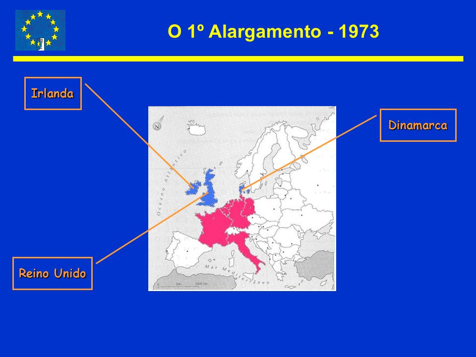 O 1º Alargamento - 1973 Irlanda Dinamarca Reino Unido