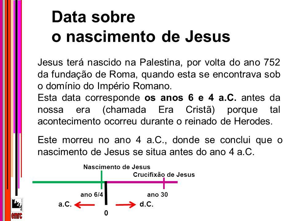 Data sobre o nascimento de Jesus emrc
