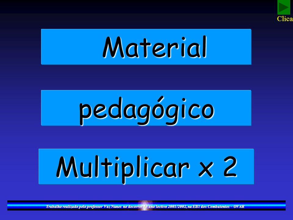 Material pedagógico Multiplicar x 2 Clica!