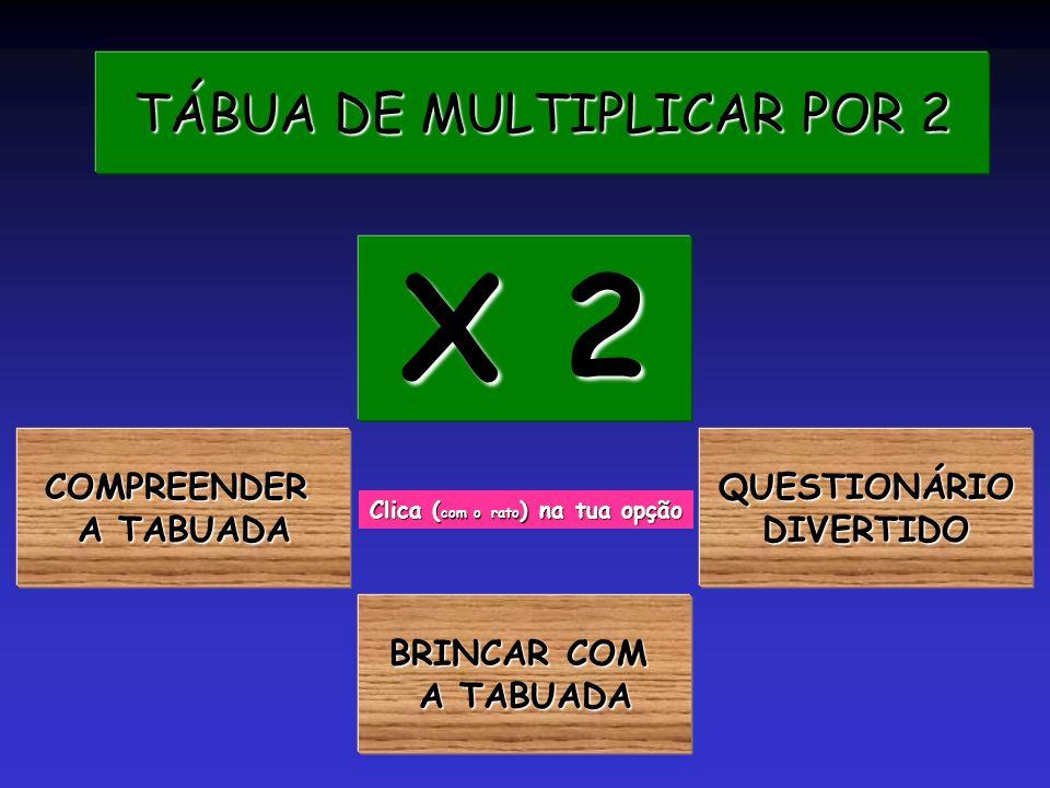 TÁBUA DE MULTIPLICAR POR 2