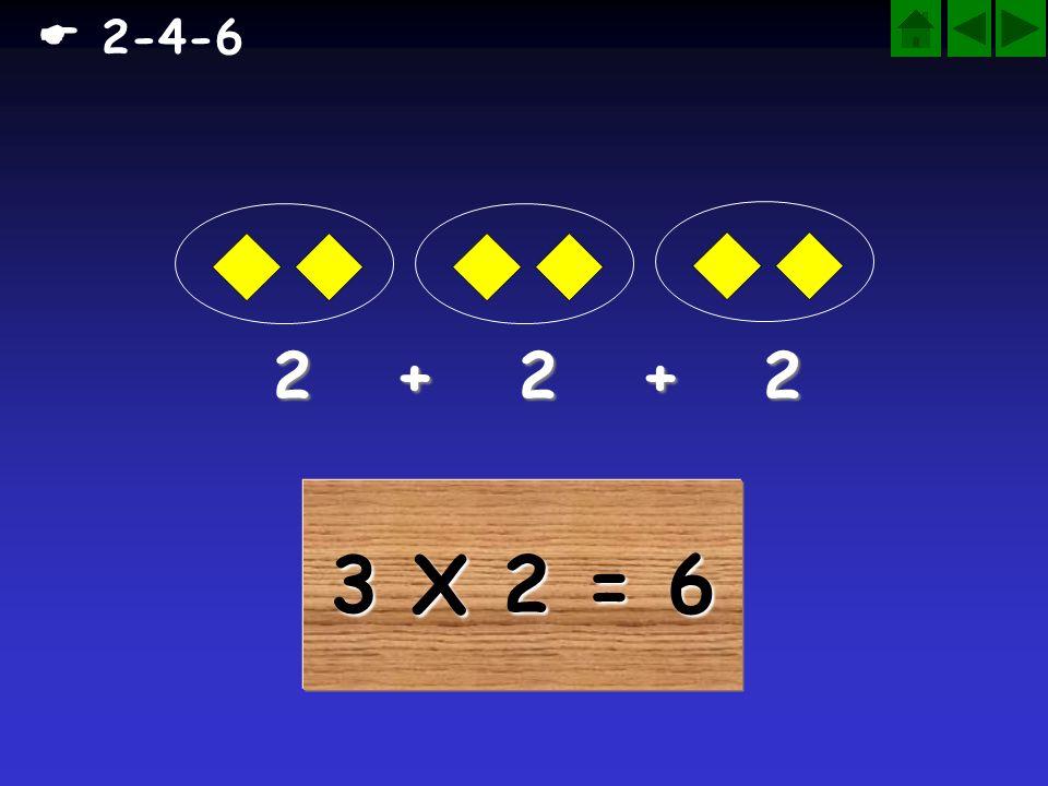  2-4-6 2 + 2 + 2 3 X 2 = 6