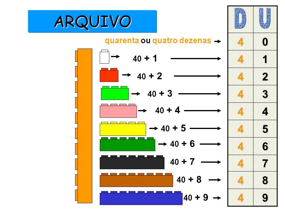 ARQUIVO D U 4 1 2 3 5 6 7 8 9 quarenta ou quatro dezenas 40 + 1 40 + 2