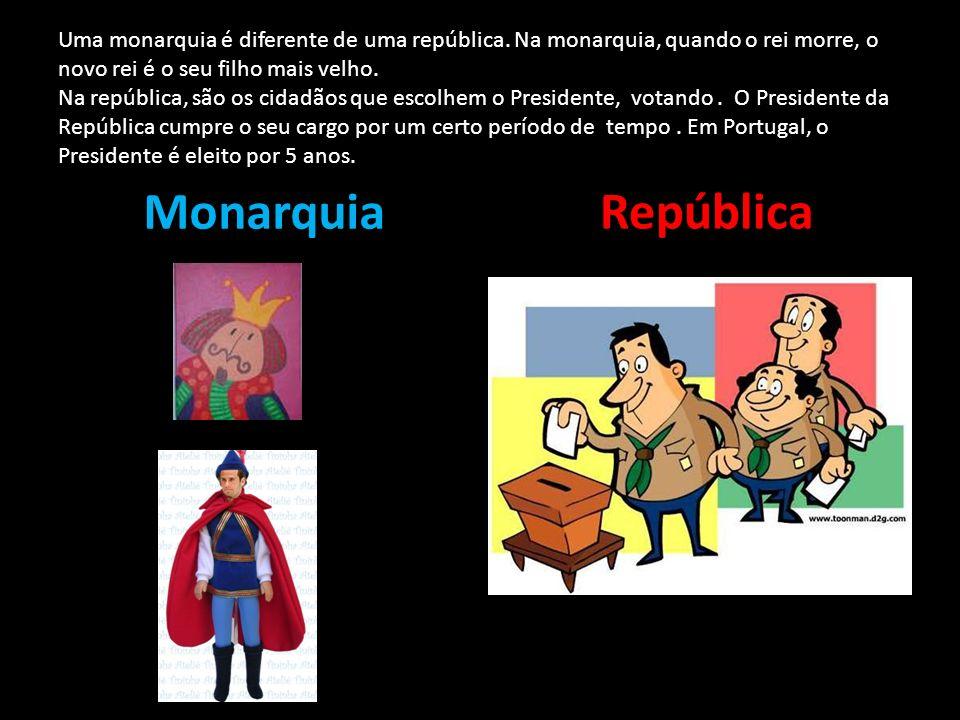 Uma monarquia é diferente de uma república