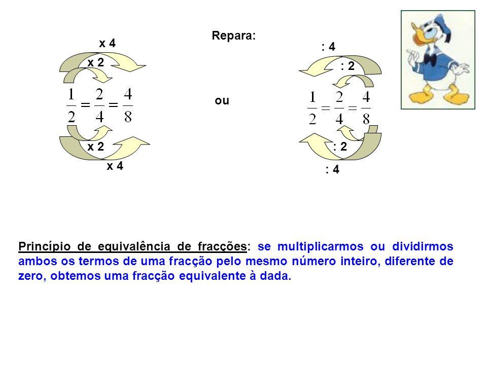 Repara: x 4. : 4. x 2. : 2. ou. x 2. : 2. x 4. : 4.