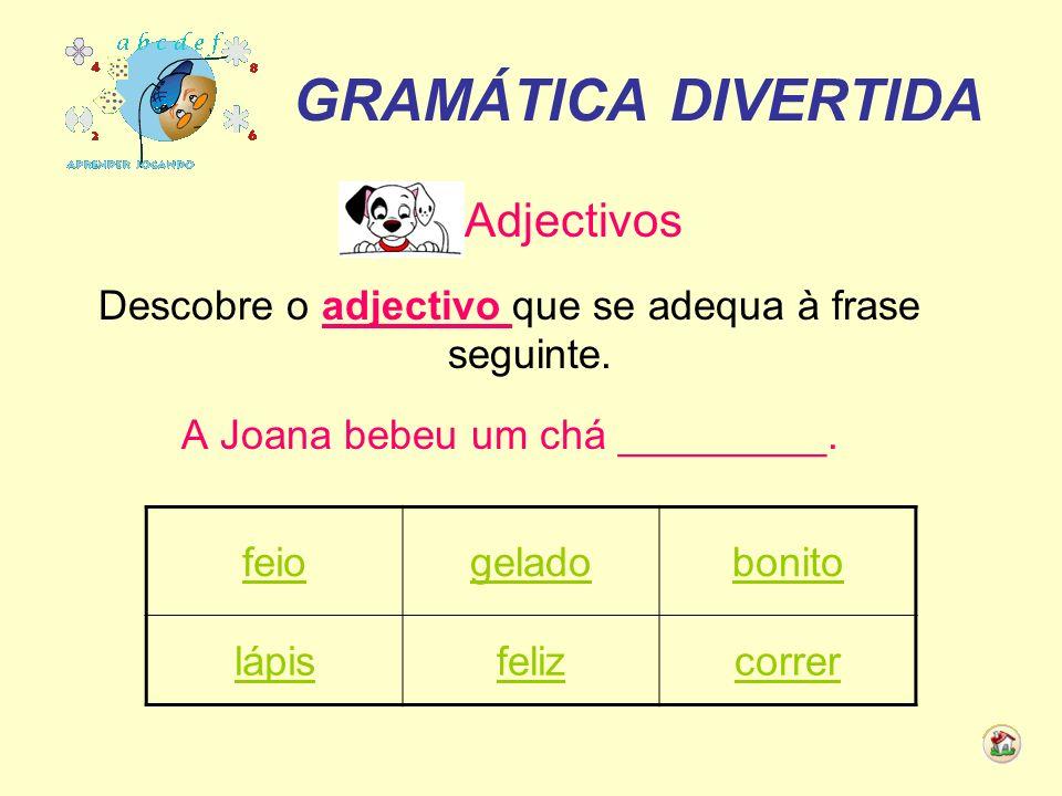 GRAMÁTICA DIVERTIDA Adjectivos