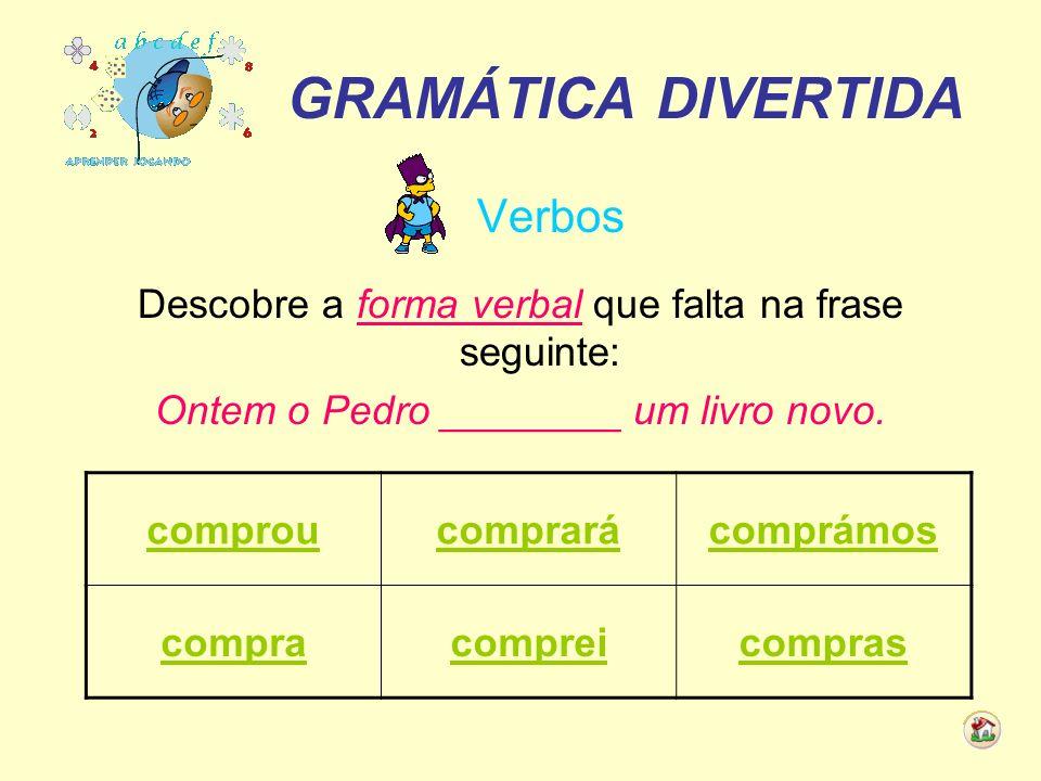 GRAMÁTICA DIVERTIDA Verbos
