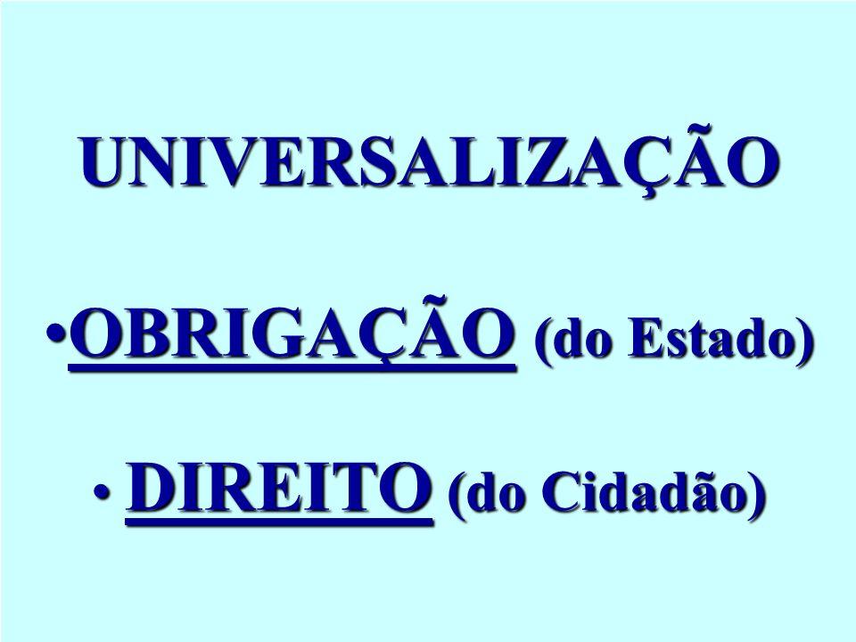 UNIVERSALIZAÇÃO OBRIGAÇÃO (do Estado)
