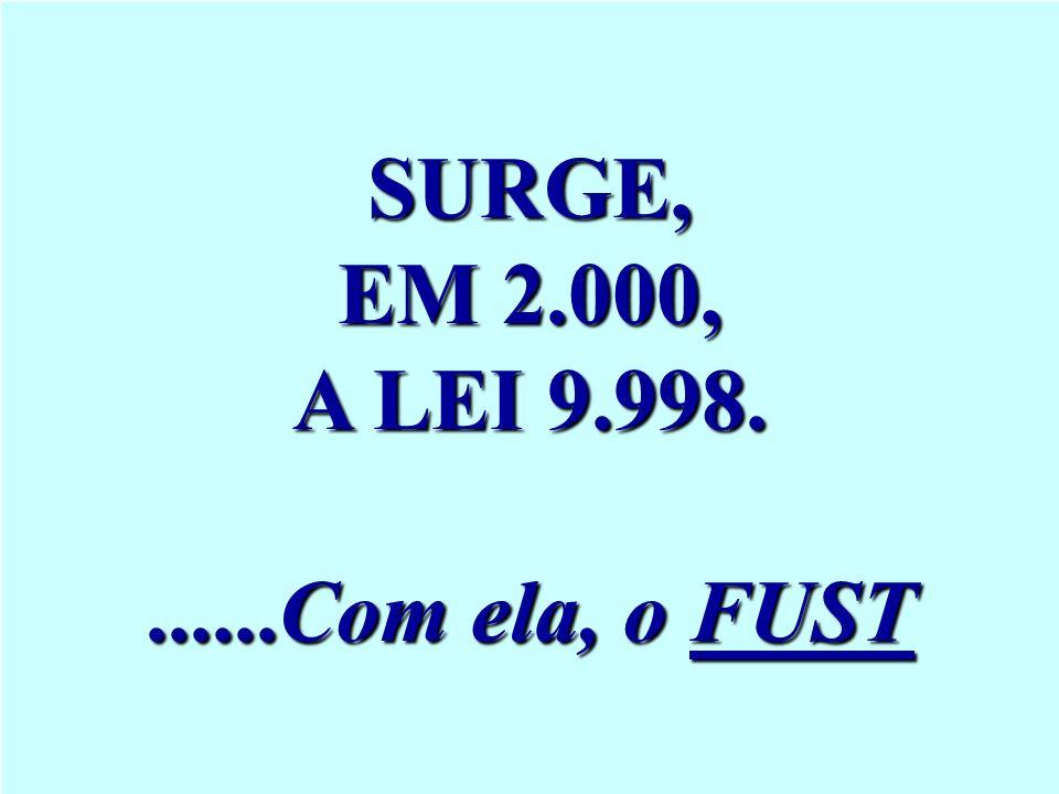 SURGE, EM 2.000, A LEI 9.998. ......Com ela, o FUST