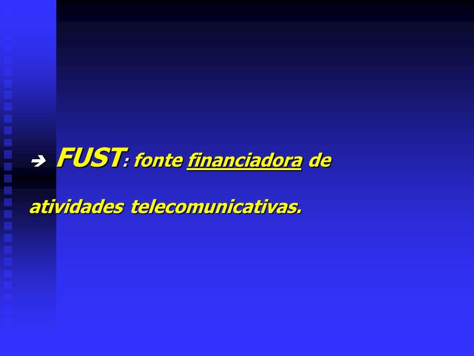  FUST: fonte financiadora de atividades telecomunicativas.