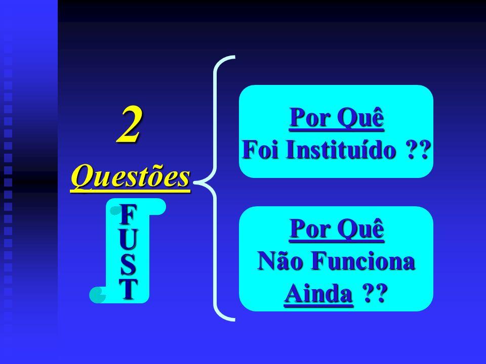 2 Questões F U S T Por Quê Foi Instituído Por Quê Não Funciona
