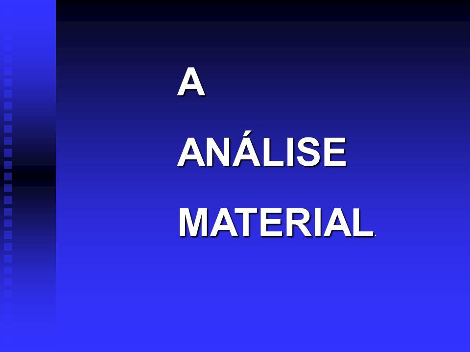 A ANÁLISE MATERIAL.