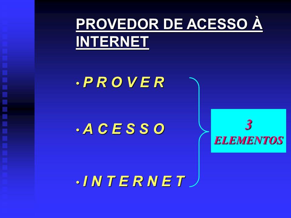 PROVEDOR DE ACESSO À INTERNET