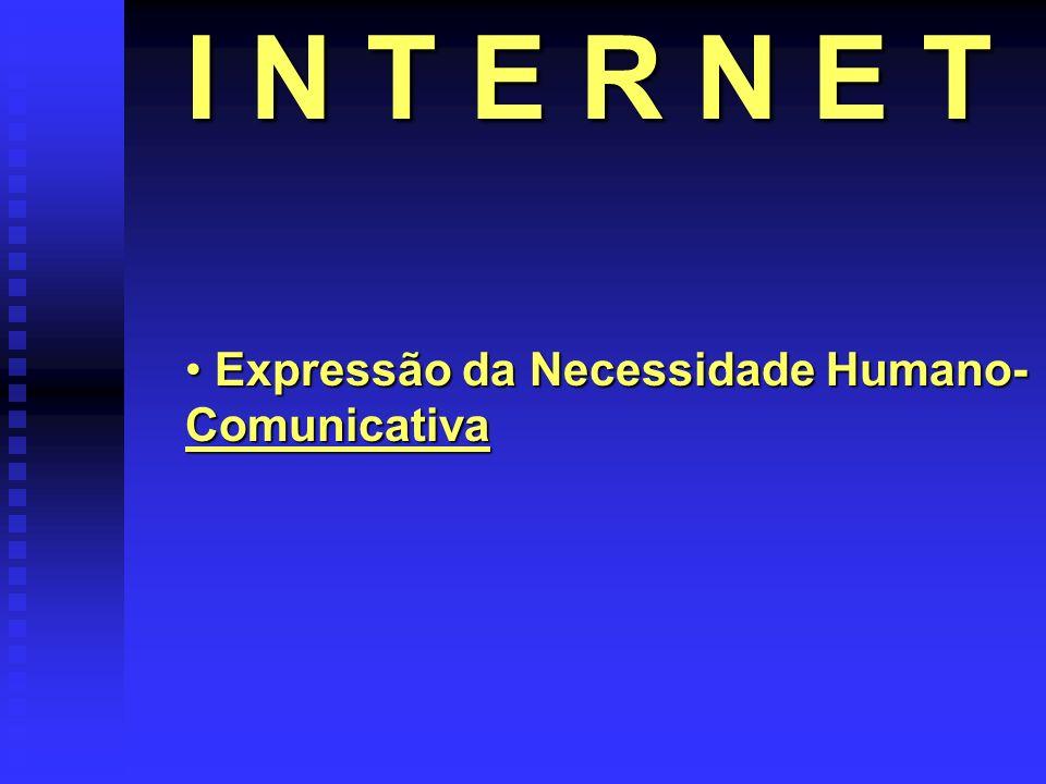 I N T E R N E T Expressão da Necessidade Humano-Comunicativa