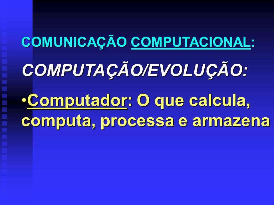 COMPUTAÇÃO/EVOLUÇÃO: