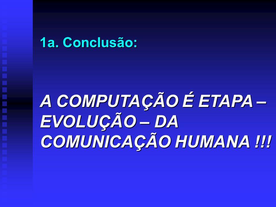 A COMPUTAÇÃO É ETAPA – EVOLUÇÃO – DA COMUNICAÇÃO HUMANA !!!