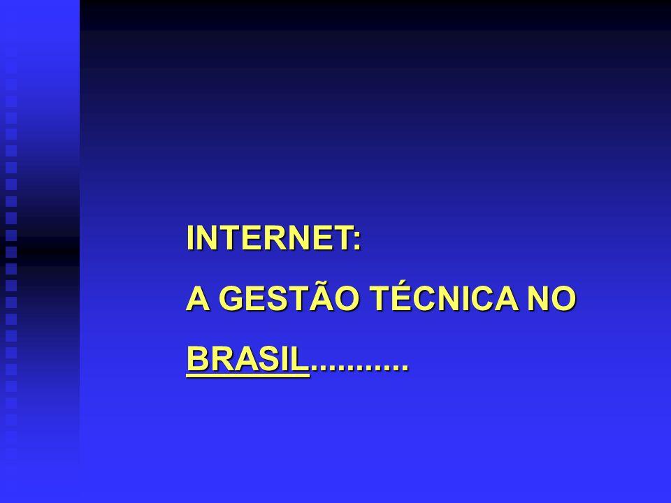 INTERNET: A GESTÃO TÉCNICA NO BRASIL...........