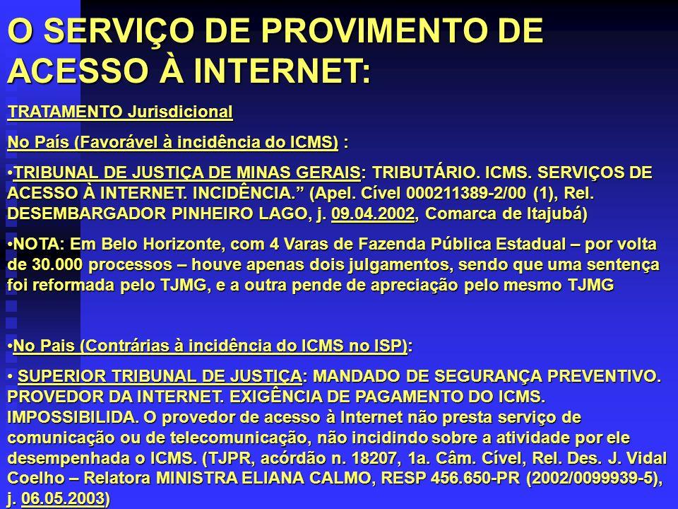 O SERVIÇO DE PROVIMENTO DE ACESSO À INTERNET: