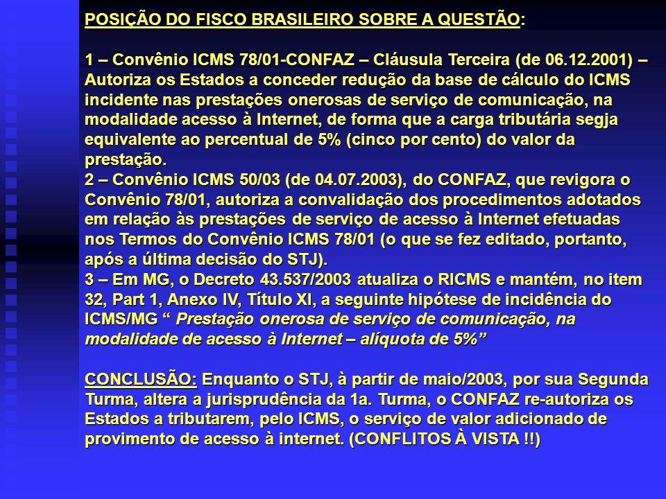 POSIÇÃO DO FISCO BRASILEIRO SOBRE A QUESTÃO: