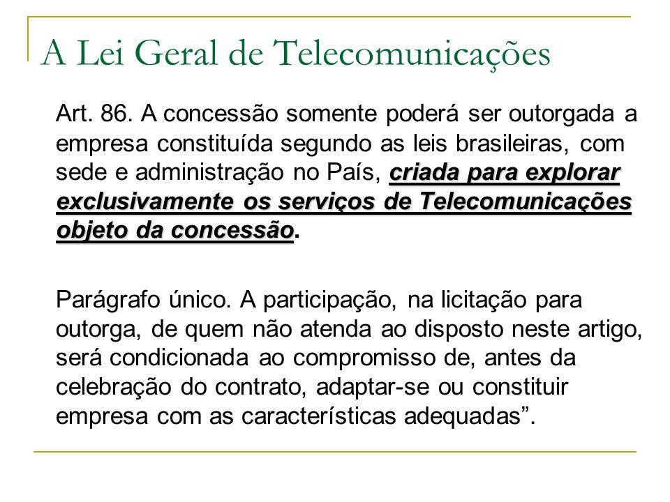 A Lei Geral de Telecomunicações