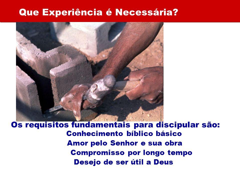 Que Experiência é Necessária