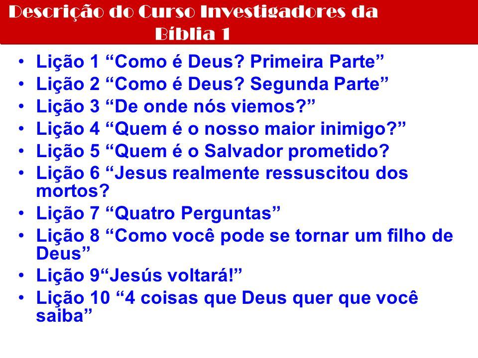 Descrição do Curso Investigadores da Bíblia 1